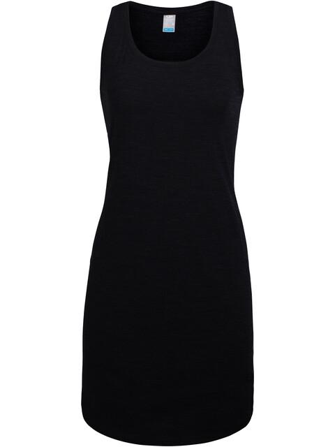 Icebreaker Yanni jurk Dames zwart